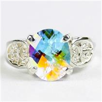 Mercury Mist Topaz, 925 Sterling Silver Ladies Ring, SR369,