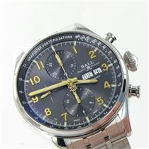 Ball Trainmaster Pulsemeter II Day Date Gray Dial Watch CM3038D-SJ-GY NWT $4399