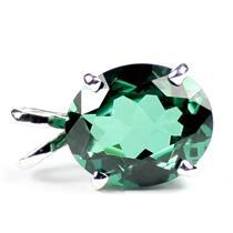 SP040, Russian Nanocrystal Emerald, 925 Sterling Silver Pendant