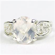 Rose Quartz, 925 Sterling Silver Ladies Ring, SR369