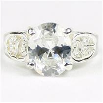 Cubic Zirconia, 925 Sterling Silver Ladies Ring, SR369