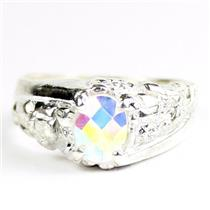 Mercury Mist Topaz, 925 Sterling Silver Mens Nugget Ring, SR368