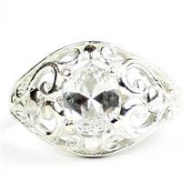 Cubic Zirconia,925 Sterling Silver Ladies Ring, SR111
