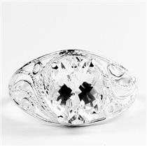 Silver Topaz, 925 Sterling Silver Ladies Ring, SR083