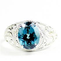 Paraiba Topaz, 925 Sterling Silver Ladies Ring, SR083