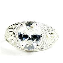 Cubic Zirconia, 925 Sterling Silver Ladies Ring, SR083