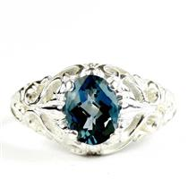 London Blue Topaz, 925 Sterling Silver Ladies Ring, SR113
