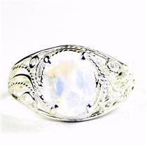 Rainbow Moonstone,  925 Sterling Silver Ladies Ring, SR083