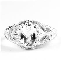 Silver Topaz,  925 Sterling Silver Ladies Ring, SR113