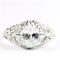 Cubic Zirconia, 925 Sterling Silver Ladies Ring, SR113