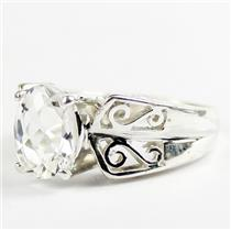 Silver Topaz, 925 Sterling Silver Ladies Ring, SR281