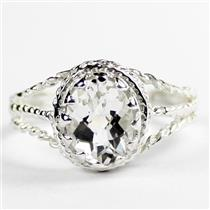 Silver Topaz,  925 Sterling Silver Ladies Ring, SR070