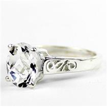 Silver Topaz, 925 Sterling Silver Ladies Ring, SR366