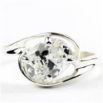 Cubic Zirconia, 925 Sterling Silver Ring, SR186
