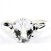 Silver Topaz,  925 Sterling Silver Ladies Ring,  SR058