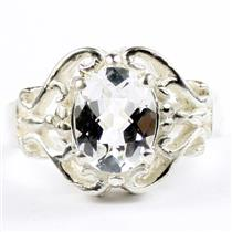 Silver Topaz, 925 Sterling Silver Ladies Ring, SR169