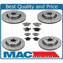 Volvo XC90 With 317MM 12.4 Inch Front & Rear Brake Rotors Pads Ck Rotor Size 6pc