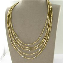 Marco Bicego Marrakech 5 Strand Diamond Necklace 0.60cts 18k Yellow Gold $16430