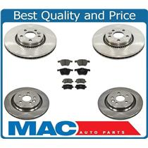 08-16 XC70 316MM Front & 302MM Rear VENTED Rotors Disc Brake Rotor, Ceramic Pads