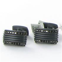 David Yurman Phantom Royal Cord Black Titanium Black Diamond Cufflinks NWT $1250