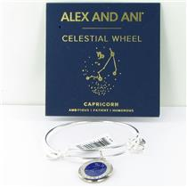 Alex and Ani Capricorn Celestial Wheel Shiny Silvr Bangle Bracelet A15EB61YG NWT
