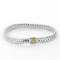 John Hardy Classic Chain 6mm Bracelet Mandarin Garnet Clasp Sterling925 New $850