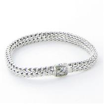 John Hardy Classic Chain 6mm Bracelet Grey Sapphires Clasp Sterling 925 New $850