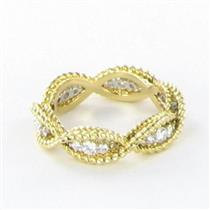 Roberto Coin Barocco Braided Diamond Ring 0.46cts 18k Yellow Gold 6.5 New $2500