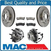 Wheel Hub & Bearings Brake Disc Rotors Pads for 03-05 All Wheel Drive Astro Van