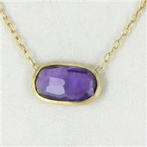 "Marco Bicego Delicati Amethyst Necklace 18k Yellow Gold 17"" New $990"