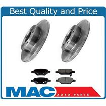 (2) Disc Brake Rotor & Rear Ceramic Brake Pads for Chevrolet Cobalt 2004-2010