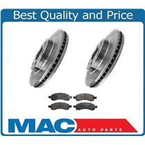 (2) Front Brake Rotors & Ceramic Brake Pads for 07-16 Acadia Traverse