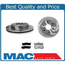 (2) Front Brake Rotors & Ceramic Brake Pads for Chevrolet Silverado 1500 99-04