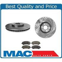(2) FRONT Brake Rotors & Ceramic Brake Pads for Nissan Sentra Spec-V 2.5L 09-12