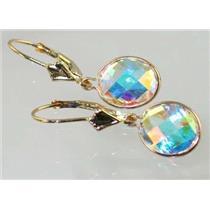 E101, Mercury Mist Topaz, 14k Gold Earrings