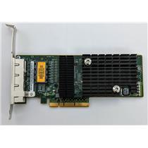 Sun Micro ATLS1QGE PCIe Quad Port Network Adapter 501-7606 Tested High Profile