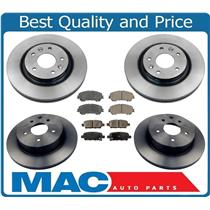 100% New Front & Rear Pads & Rotors for Nissan Rogue 14-18 W/ 2 Row Seat  (ONLY)