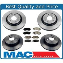 100% New Front & Rear Ceramic Pads & Rotors For 2016-2017 Nissan Leaf 6pc Kit