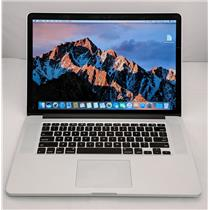 "Apple Macbook Pro ME874LL/A 15"" i7-4960HQ 2.6GHz 512GB SSD 16GB OS Sierra 10.12"
