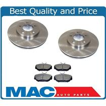 (2) Front Brake Rotors & Ceramic Brake Pads for 1994-2000 Taurus Sable 4 Door