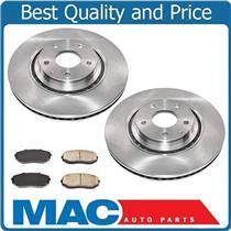 (2) FRONT Brake Rotors & Ceramic Pads All New for Mazda CX-9 16-18 2.5L Turbo