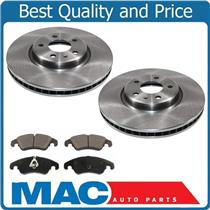 (2) FRONT Brake Rotors & Ceramic Pads All New for 09-16 Audi A4 & A4 Quattro 2.0