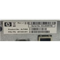 HP 481340-001 HP MSA2000 Storageworks Controller Module AJ748A