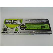 NEW Klear Keys XL Glow in the Dark and Spill Resistant Keyboard 72-72582