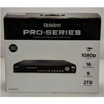 Uniden PRO1600X2 Pro Security System XVR 16-Channel 16 BNC + 16 IP w/ 2TB HDD