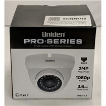 Uniden Professional 2.0-Megapixel IP Tamperproof Fixed Dome Camera 2MED-3.6