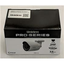 Uniden Professional 2.0-Megapixel IP Tamperproof Fixed Bullet Camera 2MB-3.6