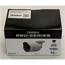Uniden Professional 2.0-Megapixel IP Tamperproof Varifocal Bullet Camera 2MB-3.6