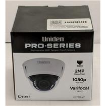 Uniden Professional 2.0-Megapixel IP Tamperproof Varifocal Dome Camera 2MTPD-VF