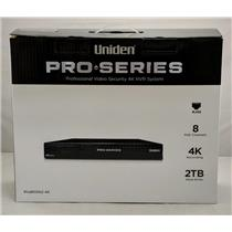 Uniden PRO800N2-4K Professional Security System 4K NVR 8-Channel PoE w/ 2TB HDD